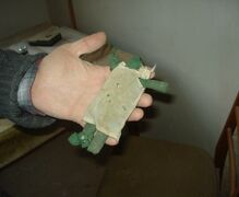 A doll from approx. 1850 found underneath the floorboards when working on the insulation