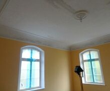 "Paintwork and crown moldings in the apartment ""Platane"""