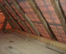 Loft prior to fitting roof tiles