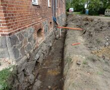 Drying and sealing of the house foundations