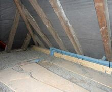 Insulation work in the attic